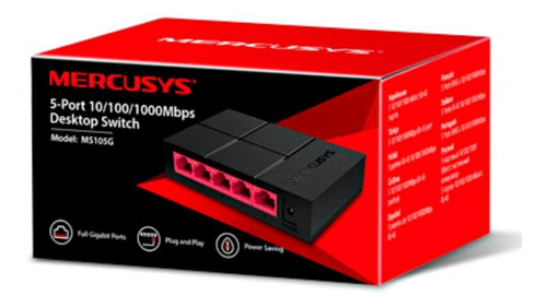 switch gigabit mercusys ms105g 5 puertos 10/100/1000 mbps
