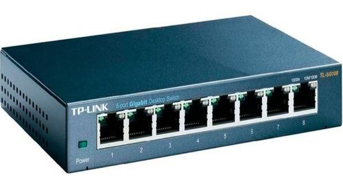 switch gigabit tp-link tl-sg108 8 bocas 10/100/1000 metalico