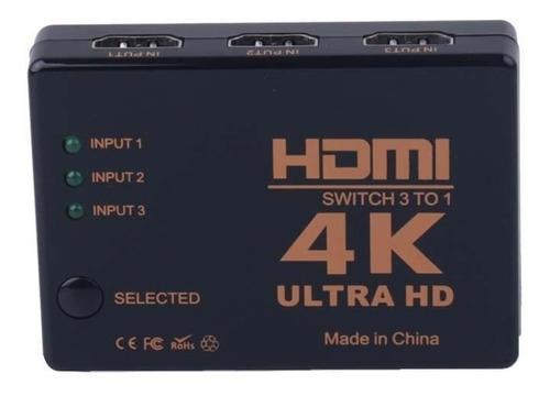 switch hdmi 3x1 con control 1080p local 1 junta fac
