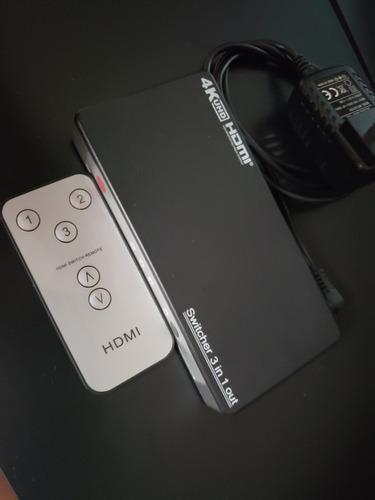 switch hdmi 4k uhd de 3 puertos