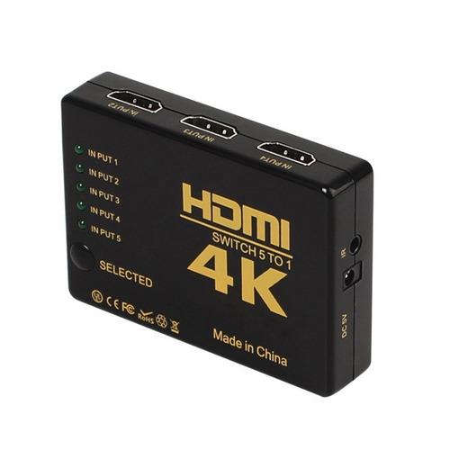 switch hdmi 5 a 1 definicion hd 1080p con contro remoto 4k