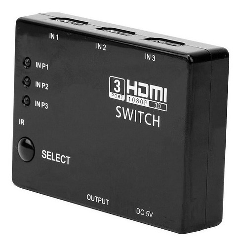 switch hdmi chaveador seletor hub full hd 1080p 3x1 knup