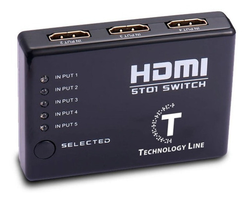 switch hdmi con control 5 bocas