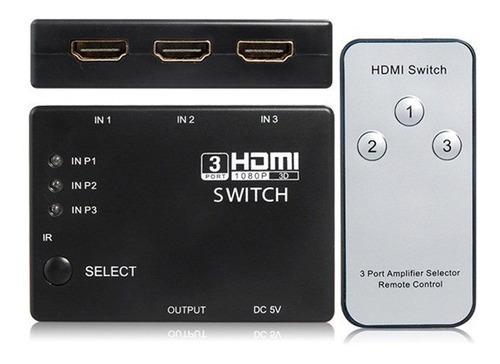 switch hdmi full hd 1080p hub multiplicador puertos control