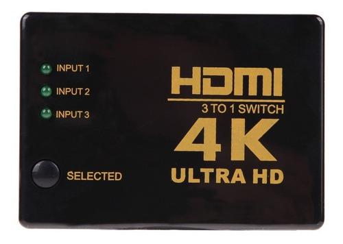switch hdmi selector control remoto full hd 1080p 1.3 3d
