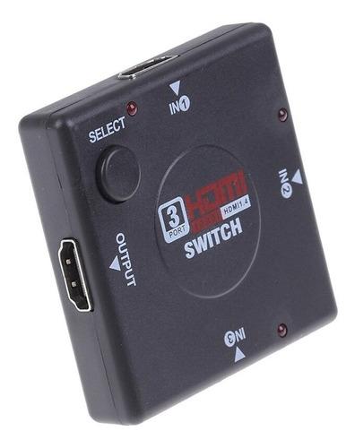 switch hdmi v1.4 pasivo 3x1 (full 1080p hd)