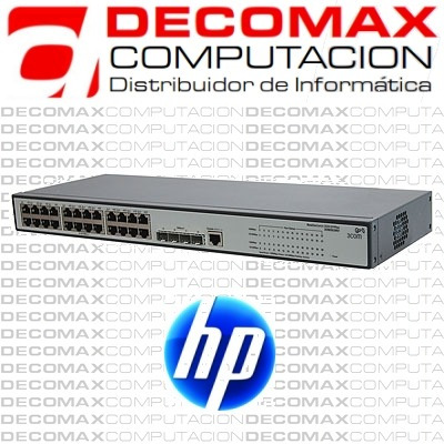 switch hp 24 port 10/100/1000 v1910-24g je006a administrable