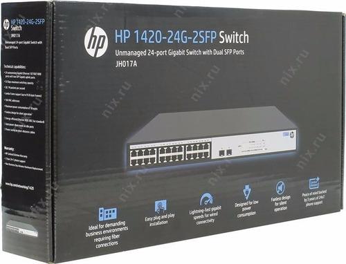 switch hp jh017a 1420-24g-2sfp 24 puertos gigabit +2sfp rack