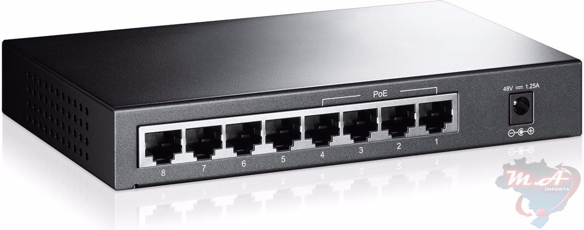 switch hub 8 portas 10 100 4 portas poe tp link tl sf1008p