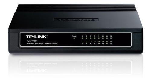 switch hub de 16 puertos tp link tl sf1016d 10/100 mbps rack