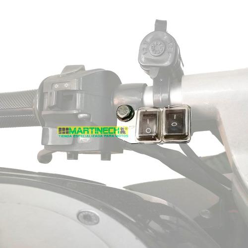 switch interruptor moto impermeable exploradoras led doble