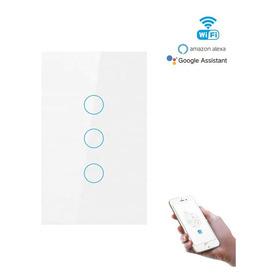 Switch Interruptor Wifi Sin Neutro 3 Tactil Google Home Mini