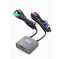 switch kvm 2 puertos ps2 c/cables y audio envios en el dia