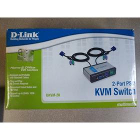 Switch Kvm 2 Puertos Ps2 Vga Monitor Teclado Mouse Dvr Dlink