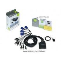 switch kvm 4-port usb cable gcs24u iogear