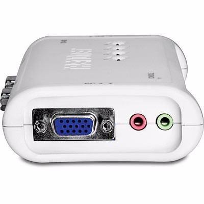 switch kvm  4 puertos ps2 audio  y cables trendnet tk408k