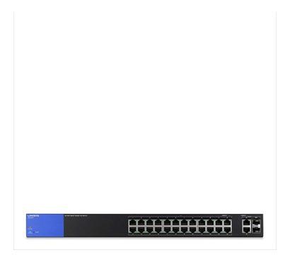 switch linksys lgs326p 26 port smart poe- tecsys