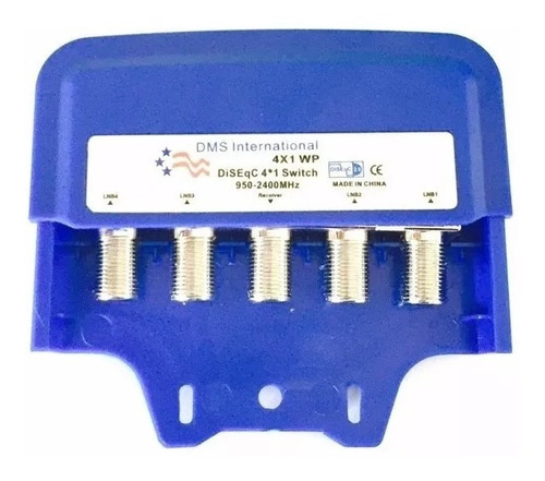 switch llave diseqc dms 2.0 4x1 banda c ku antena satelital