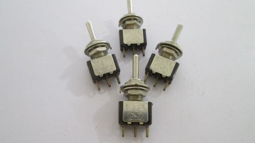 switch mini porfiado  2 pases 3 patas  ac universal x 2 unid