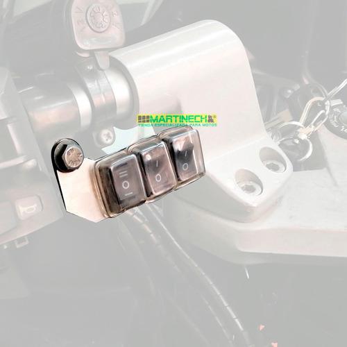 switch moto interruptor x 3 estacionarias exploradoras led