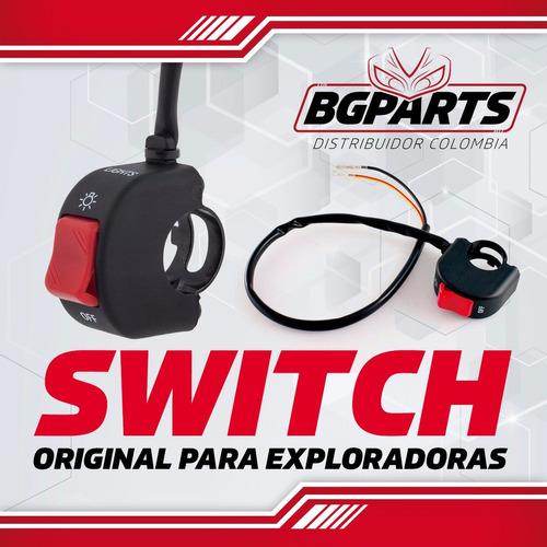 switch moto on / off luces exploradoras x 2 unidades