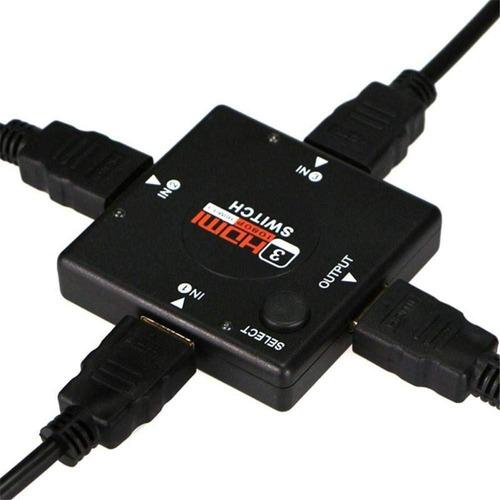 switch multiplicador de puertos hdmi 3 entrada 1 salida ohmyshop