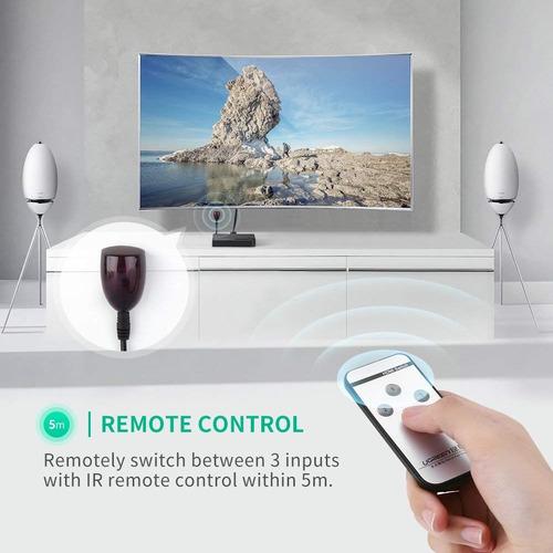 switch multiplicador de puertos hdmi 4k con control remoto ohmyshop