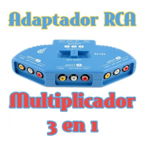switch multiplicador rca 3 tomas tv lcd led ps2 ps3 wii xbox