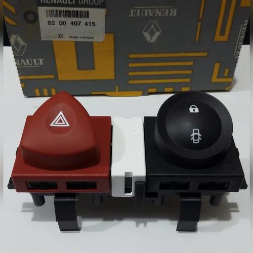 switch o boton de parqueo y bloqueo de puertas megane 2