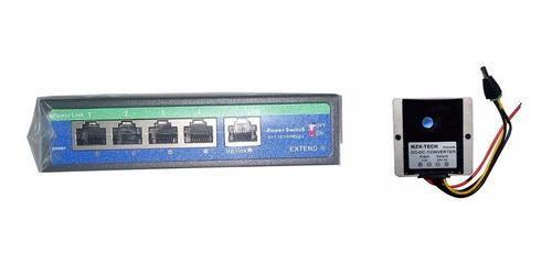 switch poe 4 puertos ubiquiti mikrotik solar