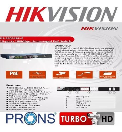 switch poe hikvision 16 puertos ds-3e0318-pe cuotas