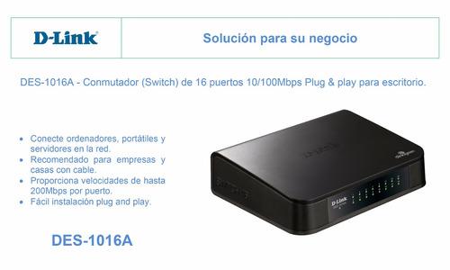 switch puertos d-link