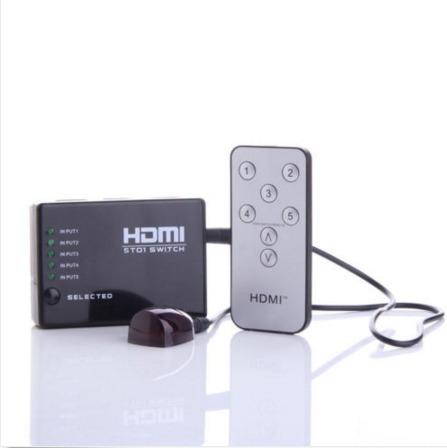 switch selector hdmi 5 puertos + 2 cables hdmi envio gratis