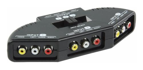 switch selector rca 3 entradas / tv ps2 ps3 xbox360 wii