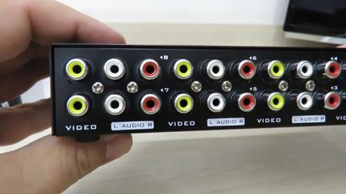 switch seletor de video e audio composto rca av 8x1