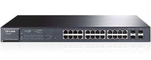 switch smart gigabit poe+ de 24 puertos tl-sg2424p