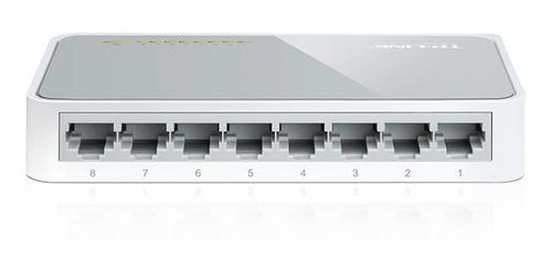 switch suiche 8 puertos tp-link  sf1008d 10/100mbps - blanco