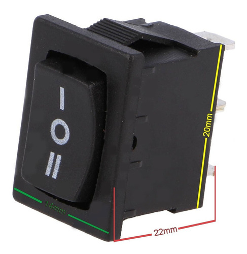 switch suiche interruptor 3 posiciones sp3t / on - off - on