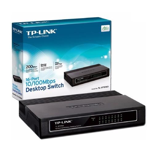 switch tp-link 16 bocas 10/100 sf1016d - dixit pc