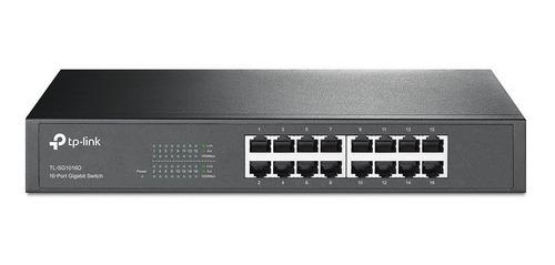 switch tp link 16 bocas tl sg1016d gigabit 10/100/1000 rack