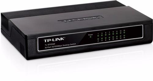 switch tp-link 16 port puertos 10/100 mbps  tlsf1016d