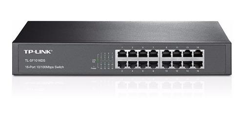 switch tp-link  16 ptos para montaje en rack 13  tl-sf1016ds