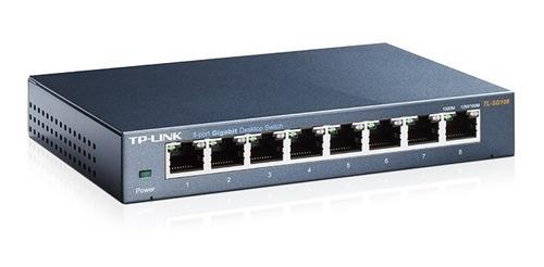 switch tp-link 8 bocas gigabit ethernet tl sg108 metálico
