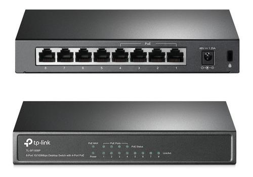 switch tp-link tl-sf1008p desktop 8 puertos 4 poe
