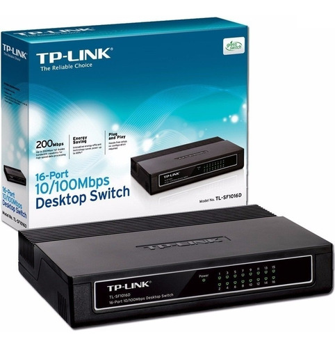 switch tp-link tl-sf1016 16 puertos 10/100 mbps