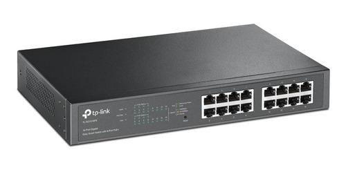 switch tp-link tl-sg1016pe 16 puertos gigabit con 8 poe+