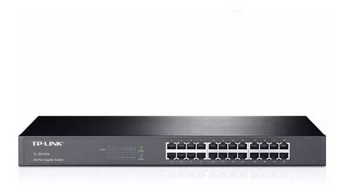 switch tp link tl-sg1024d 24 puertos 10/100/1000 rack full