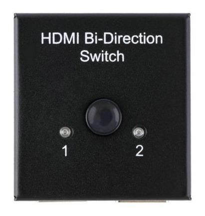 switch y splitter hdmi bidireccional 2 puertos 1.4 3d 1080p