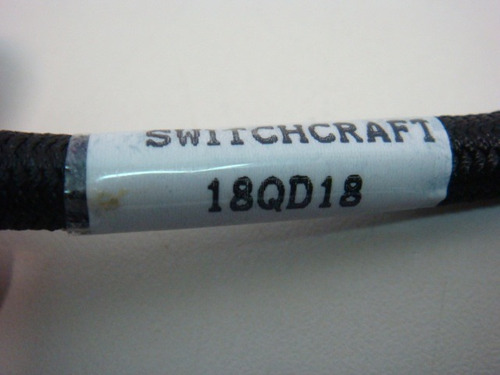 switchcraft 02 conectores plug 1/4 stereo 1/2 metro de cable