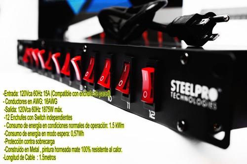 switchera multicontacto de 12 contactos  ideal para rack